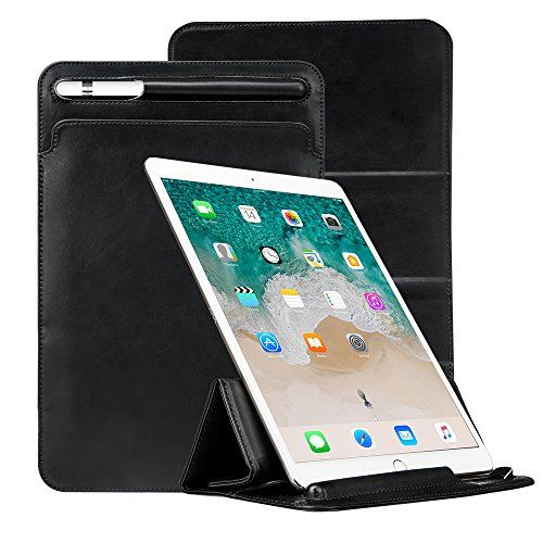 """iPad Pro 10.5 Case Sleeve Apple Pencil Holder TOOVREN Tri-fold Stand Ultra-Thin Leather PU Pouch Cover for Apple iPad Pro 10.5 inch 9.7 inch iPad Air / iPad Air 2 / Galaxy Tab S3/S2 9.7"""" Black #iPad #Case #Sleeve #Apple #Pencil #Holder #TOOVREN #fold #Stand #Ultra #Thin #Leather #Pouch #Cover #inch #Galaxy #Black"""