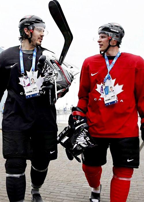 Drew Doughty and Sidney Crosby, Sochi 2014