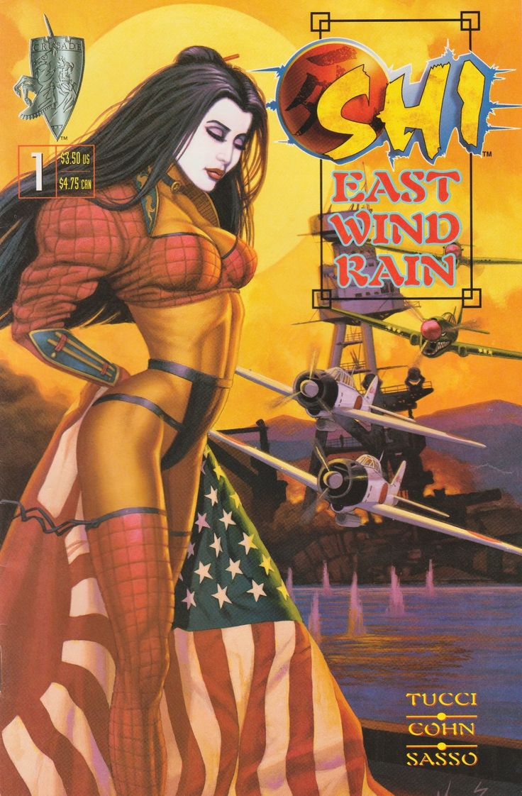 East wind rain no. 1 - tekenaar: Marc Sasso - tekst: William Tucci en Gary Cohn - Crusade Comics, November 1997