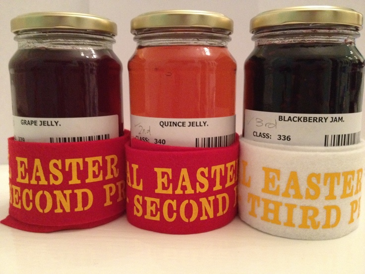 Some prize winning preserves from the 2013 Easter Show