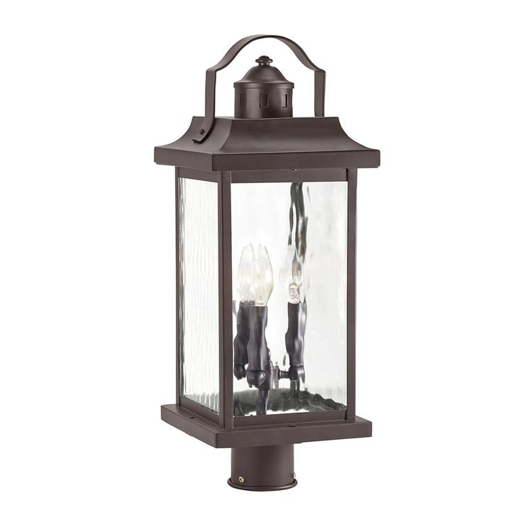 Shop kichler lighting linford 21 3 in h olde bronze post light at lowes com
