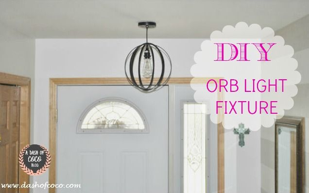 1000 ideas about orb light on pinterest orb chandelier - Make your own light fixtures ...