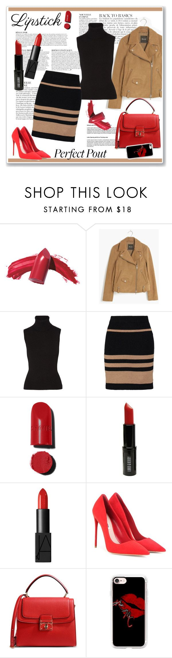 """""""Red lipstick"""" by ruza-b-s ❤ liked on Polyvore featuring beauty, Anja, Elizabeth Arden, Madewell, Michael Kors, James Perse, Chanel, Lord & Berry, NARS Cosmetics and Miu Miu"""