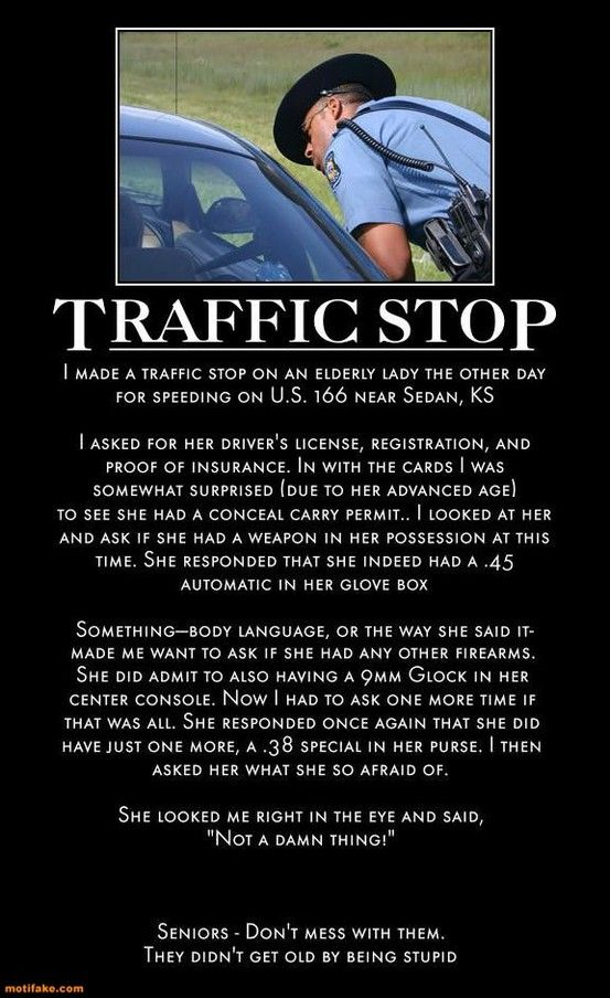If this traffic stop happened this way, this woman is AWESOME!