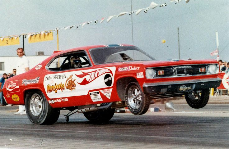 """Tom """"The Mongoose"""" McEwen in the Hot Wheels Funny Car"""