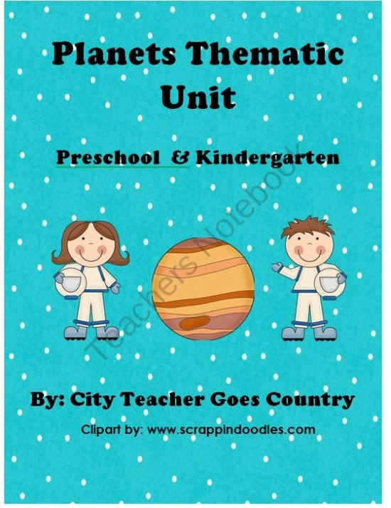 Planet Thematic Unit - PreSchool and Kindergarten (Letter P) from City Teacher Goes Country on TeachersNotebook.com (38 pages)