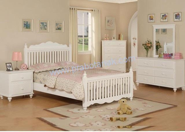 Tempat Tidur Anak Perempuan Lucu Tempat Tidur Anak Perempuan Lucu Material : Kayu mahoni solidperhutani Cat :Duco putih(Bisa custom warna jika mengi
