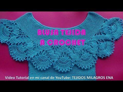Blusa Tejida a Crochet para Verano parte 1 de 2 - YouTube