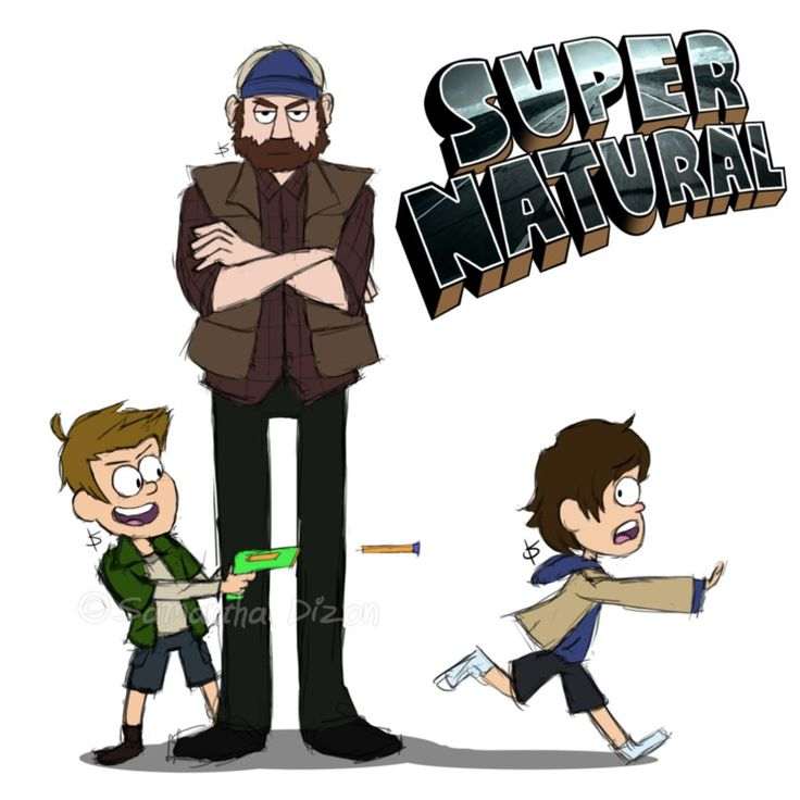 two of my favourite things in one :D | Supernatural Gravity Falls Crossover by k8y411
