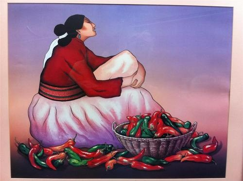 Rc Gorman Chili Peppers Navajo Gallery Fine Art Poster