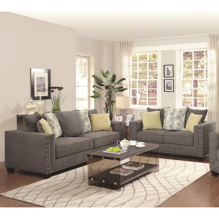 Drawing Room Setting Ideas: Calvin Button 2-piece Living Room Set