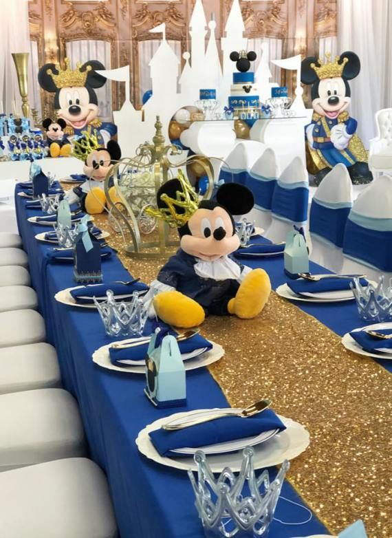 Mickey Mouse 1St Birthday Table Decorations  from i.pinimg.com