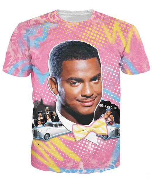 So Fresh Carlton bancos camiseta Alfonso Lincoln Ribeiro príncipe fresco de Bel Air ropa de moda las mujeres hombres t shirt tops