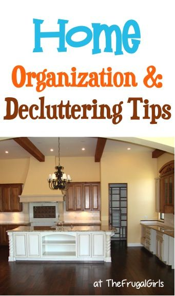 BIG List of Tips for Organizing and Decluttering Your Home! From TheFrugalGirls.com. You'll love these easy organization tips and tricks to declutter your house! #thefrugalgirls