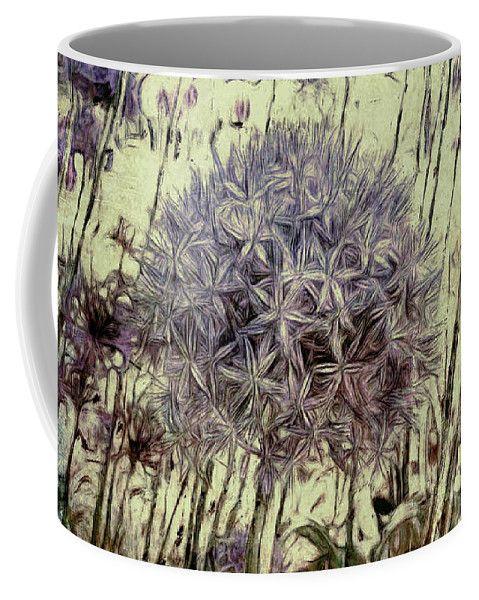 Allium Giganteum Coffee Mug by Leslie Montgomery.  Small (11 oz.)