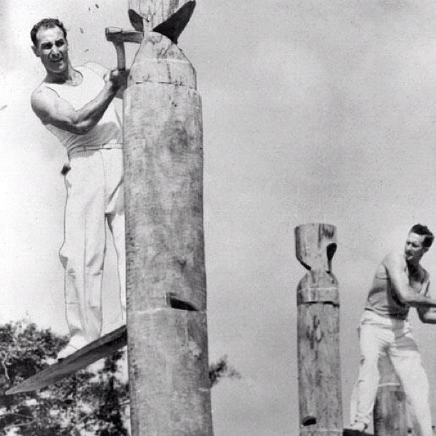 Woodchop 1930 an #Ekka Tradition still alive today in #Brisbane