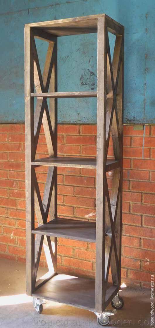 Мебель ручной работы. Ярмарка Мастеров - ручная работа. Купить этажерка. Handmade. Лофт, кантри, индастриал, стеллаж, этажерка, стол