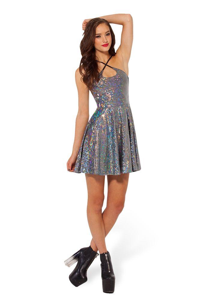Shattered Crystal Reversible Straps Dress