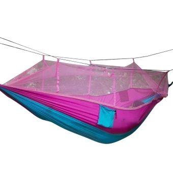 ของดี  leegoal Single-person Hammock Hanging Bed Portable High StrengthFabric Hammock With Mosquito Net For Outdoor CampingTravel,Pink+Blue  ราคาเพียง  693 บาท  เท่านั้น คุณสมบัติ มีดังนี้ Size: Pure color: 260x140 cm/102.36x55.12 inch,Multi color:260x130 cm/102.36x51.18 inch. 210T parachute fabric material, wear resistance, anti-tearing,intolerance dirty, soft and comfortable when lying on it. Equipped with two-way zipper,you can pull the zipper in insideor outside. Mosquito net can give…