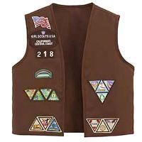 Girl Scouts Brownie Vest 10/12, Brown