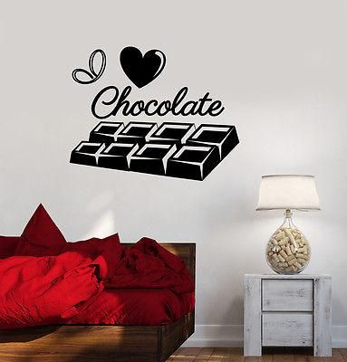Vinyl Decal I Love Chocolate Sweet Girl Room Kitchen Wall Stickers Unique Gift (ig2131)