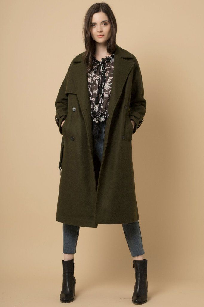 Having A Moment - Khaki Trench Coat With Waist Tie