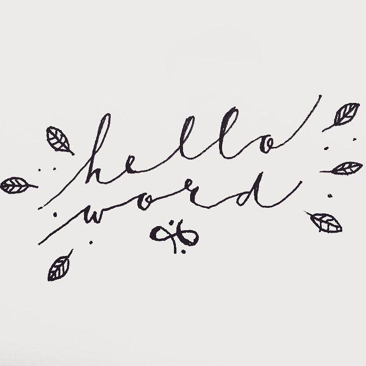 Hello Word! . . . #helloword #illustration #lettering #doodle #typography  #lovetodraw #brush #inspiration #sketching #handlettering