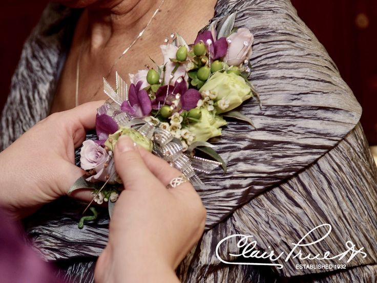 A lovely pinned on corsage never goes out of style at White Clay Creek Country Club.