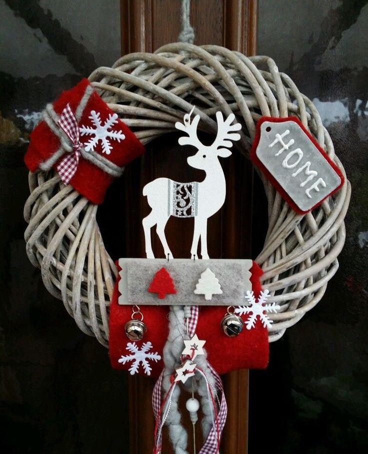 Türkranz Türdeko Advent Weihnachten Rentier Home Landhaus rustikal 30cm • EUR 29,90 - PicClick DE
