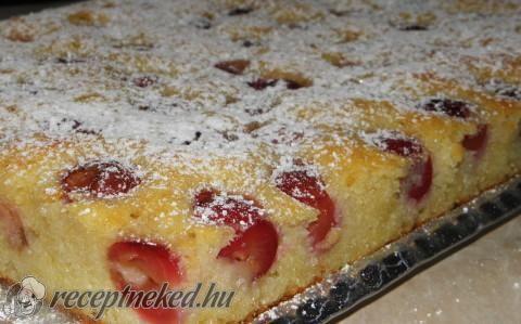 Cseresznyés süti recept fotóval