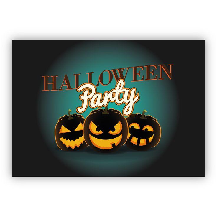 Gruselige Kürbis Einladungskarte Zu Halloween: Halloween Party