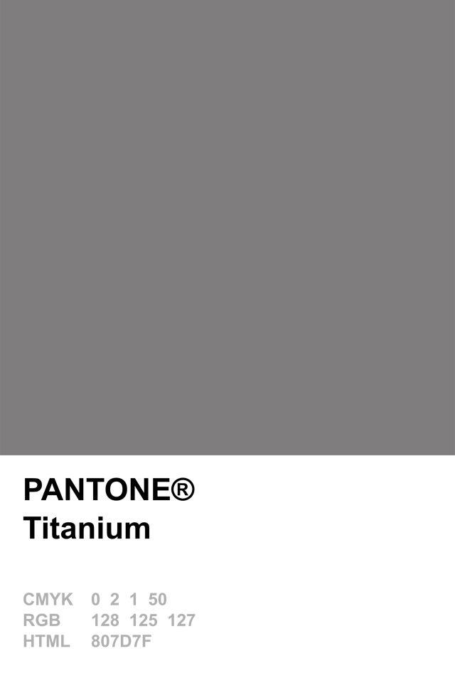 Pantone 2015 Titanium