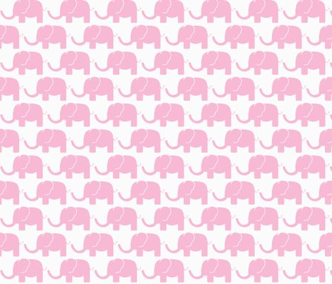 Pink elephant fabric by arrpdesign on Spoonflower - custom fabric