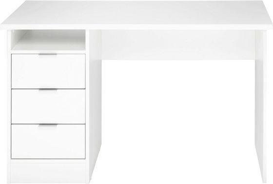 Schicker Schreibtisch in weiß - praktisch und günstig