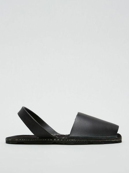 Riudavets - Avarca Sandals - Greased Leather - Recycled Car Tire Sole  $100.00