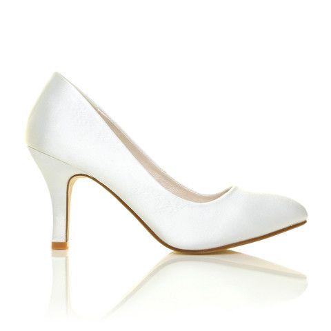 Nina Bridal - Zapatos de boda de satén mujer, color fucsia (fushsia), talla 40 EU (8 UK)
