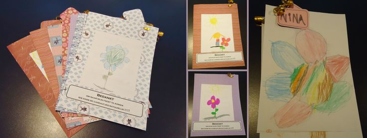 DIY bedankingetjes op om het even welk feestje: tekeningen van kindjes met danku tekstje