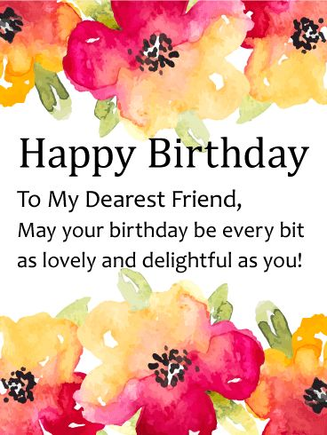 167 best birthday cards for friends images on pinterest watercolor flower happy birthday card for friends beauty and friendship are two of lifes sweetest bookmarktalkfo Image collections