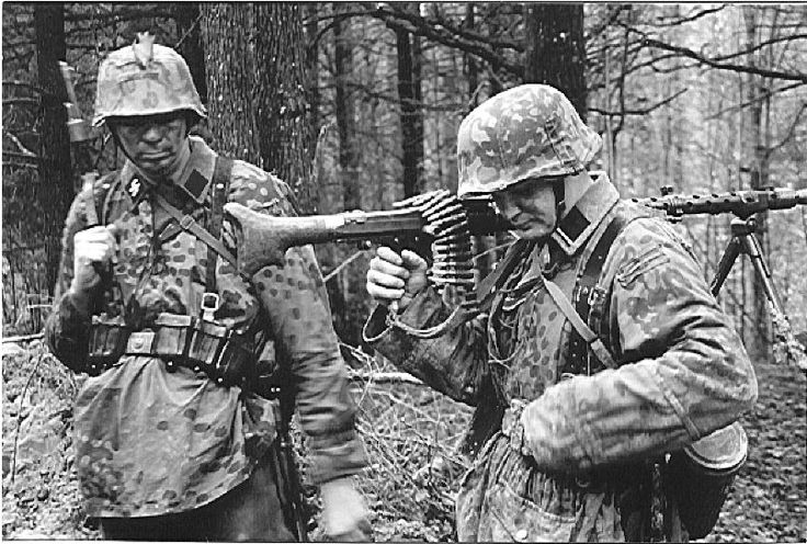Waffen SS with an MG 34.