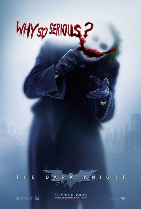 The Dark Knight. No one forgets the first time they saw this poster.