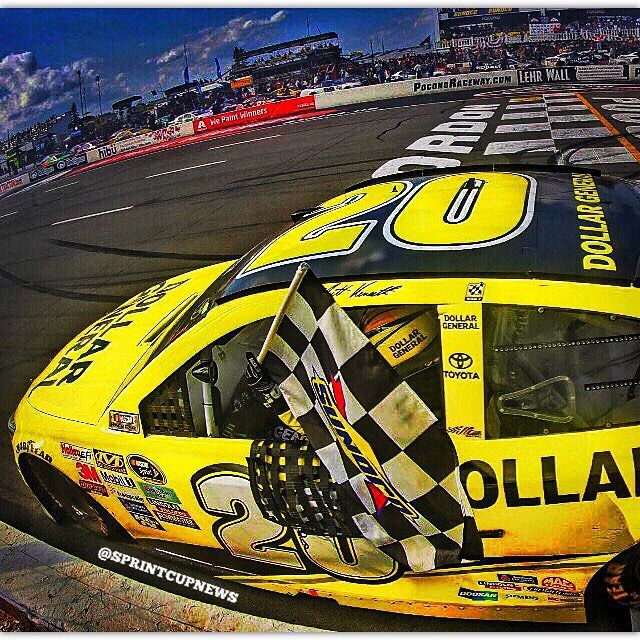 Matt Kenseth wins a crazy race from New Hampshire and advances to round 2 of the Chase!