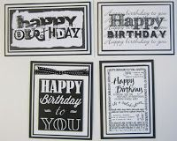 byRob: 13th May Card Class. This is a non stamping class....