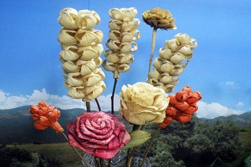 Arte Brasil   Flor+de+Palha+de+Milho - Zilda+Mateus