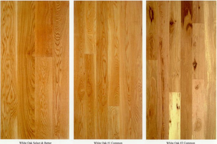 Select 1 Common 2 Common Hardwood Floor Grades