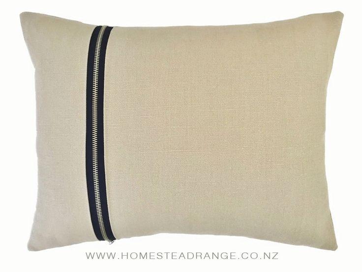Beige Zipper Cushions – Homestead Range