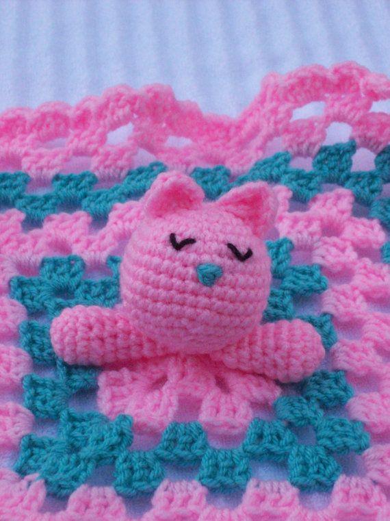 Kitten Crochet Baby Blanket Baby Lovey Baby Lovie Baby