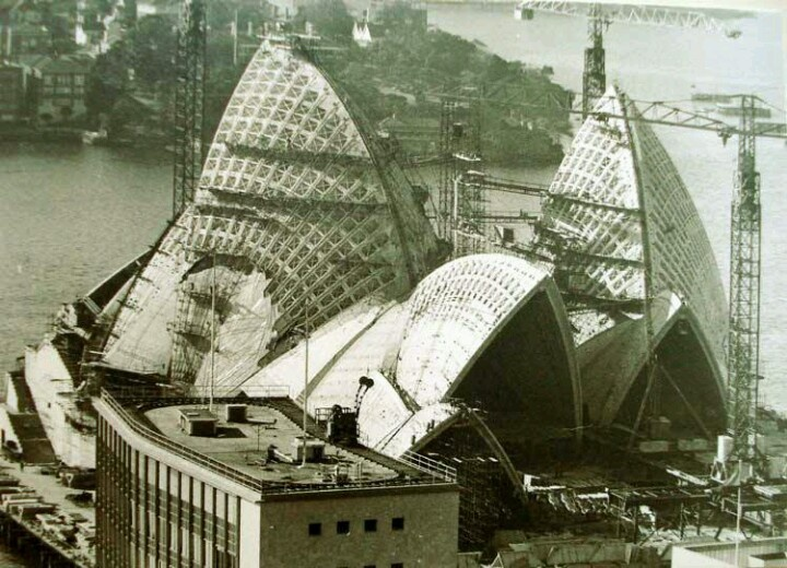 Sydney Opera, under construction