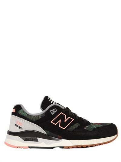 NEW BALANCE - 530 LIMIT.ED SUEDE & MESH SNEAKERS - BLACK