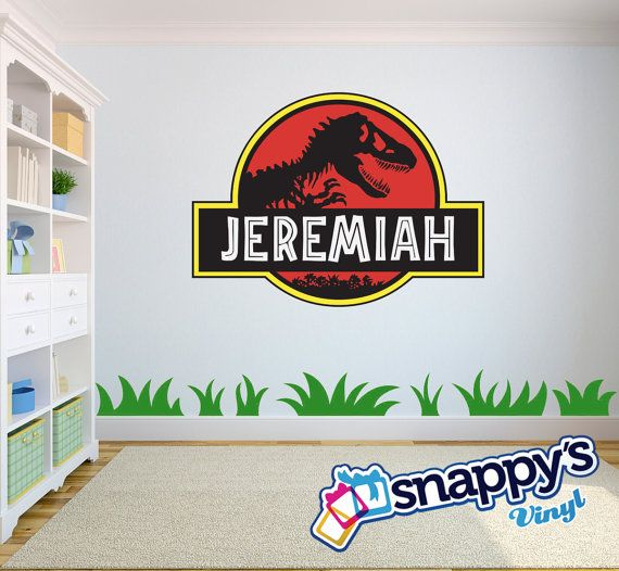 Best Jacksons Room Images On Pinterest Jurassic Park Wall - Custom vinyl wall decals logo