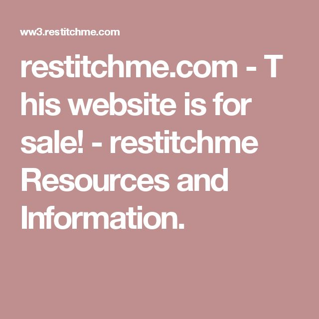 restitchme.com-This website is for sale!-restitchme Resources and Information.